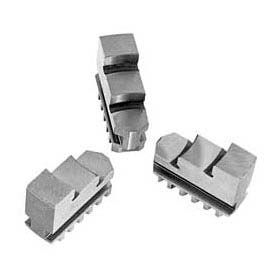 "Hard Solid OD Jaws for 10"" (250mm) 3-Jaw Chucks, 3 Piece Set, Import"