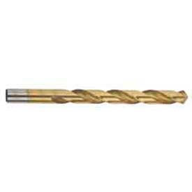 """25/64"""" Imported Hss Jobber Drill, Tin Coated, 118 Deg. - Pkg Qty 5"""