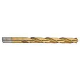 """8.10mm (.3189"""") HD HSS Import Jobber Drill, TiN Coated, 135° Spilt PT, 75mm Flute , 5PK - Pkg Qty 10"""