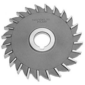 "HSS Import Plain Teeth Side Milling Cutter, 2-1/2"" DIA x 3/16"" Face x 1"" Hole"