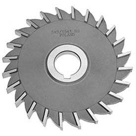 "HSS Import Plain Teeth Side Millng Cutter, 4-1/2"" DIA x 1/2"" Face x 1-1/4"" Hole"