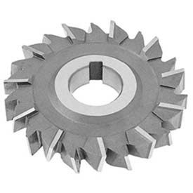 "HSS Import Staggered Tooth Side Milling Cutter, 3-1/2"" DIA x 3/8"" Face x 1"" Hole x 18 Teeth"