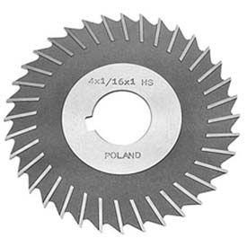 "HSS Import Metal Slitting Saw Plain Teeth, Side Chip Clear, 4"" DIA x 5/32"" Face x 1-1/4"" Hole"