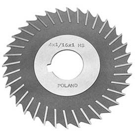 "HSS Import Metal Slitting Saw Plain Teeth, Side Chip Clear, 4"" DIA x 3/16"" Face x 1-1/4"" Hole"