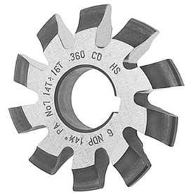 HSS Import Involute Gear Cutters, 14.5 ° Pressure Angle, DP 6-1 #6
