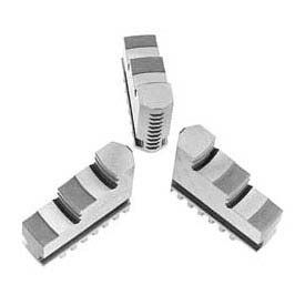 "Bison Hard Solid ID Jaws for 4"" 3-Jaw Scroll Chuck, 3 Piece Set"