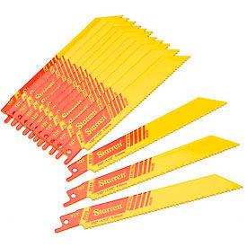 """Starrett 20111 B610-20 Recip Saw Blades General Purpose Straight Shape 20 Pack 6""""L 10T"""