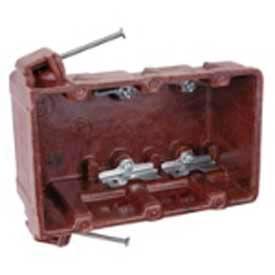 "Carlon® 1043-C, Outlet Box, 3-Gang, Phenolic, 2-3/4"" D x 3-5/8"" L x 5-7/8"" W, Brown, 20 Pack - Pkg Qty 20"