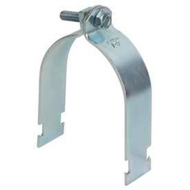 "Superstrut 5"" Steel Pipe Strap 702 5 EG, Silvergalv™ Finish"
