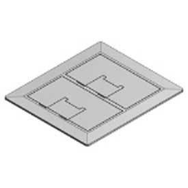 Carlon® E9762SS, Box Cover, Rectangular, 2-Gang, Stainless Steel, Silver