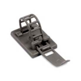 Catamount Cable Clamp ULNY-018-8-C, Adjustable/Ladder Gray Nylon 6/6 Rubber-Based Adhesive, 100 Pack - Pkg Qty 100