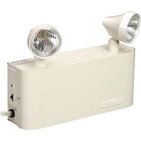 Emergi-Lite 12JCM36-2 Small Steel Emergency Light - 12V 54W Lead Calcium Battery