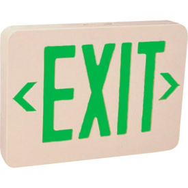Emergi-Lite ELXN400G Thermoplastic Exit Sign - Green LED AC & Battery Backup