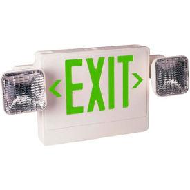 Emergi-Lite ELXN400G-2SQ Thermoplastic Combination Unit - White/Green
