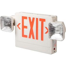Emergi-Lite ELXN400R-2SQLR LED Thermoplastic Combination Unit - White/Red 12W Remote Capacity