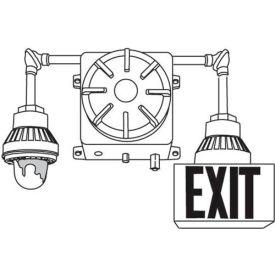 Emergi-Lite EXC3-1IA-T1SR Explosion Proof Combination Unit - 6V (Or 12V) 36W w/ 1 Head & 1 Exit