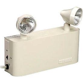 Emergi-Lite JCM18-2 Small Steel Emergency Light - 6V 9W Lead Calcium Battery