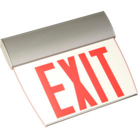 Emergi-Lite TAPE1RC Single-Face Economy Edge-Lit Exit Sign - Ac-Only Red