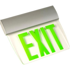 Emergi-Lite TAPE2GM Double-Face Economy Edge-Lit Exit Sign - Ac-Only Green