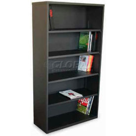 "Ensemble Five Shelf Bookcase, 36""W x 14D x 27H - Dark Neutral"