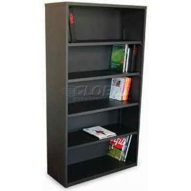 "Ensemble Five Shelf Bookcase, 36""W x 14D x 27H - Dark Neutral"