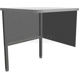 "Marvel Utility Corner Table, 30""W x 30""D x 28-36""H - Slate Gray"