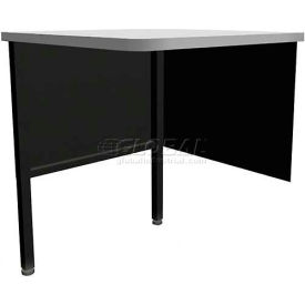 "Marvel Utility Corner Table, 30""W x 30""D x 28-36""H - Black"