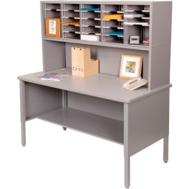 Marvel 25 Slot Literature Organizer with Riser Slate Gray by