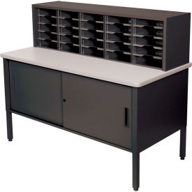 Marvel 25 Slot Literature Organizer with Cabinet Black by