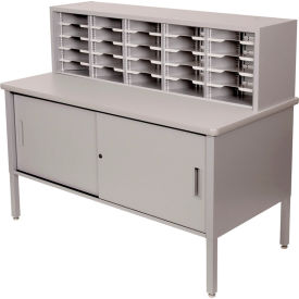Marvel 25 Slot Literature Organizer with Cabinet Slate Gray by