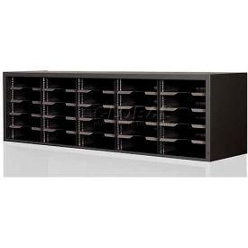 "Marvel Utility Sorter with Adjustable Shelves, 60""W x 14""D x 16""H - Black"