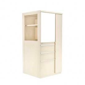 Marvel® Ensemble Personal Storage Binder Tower with Right Closet, Pumice