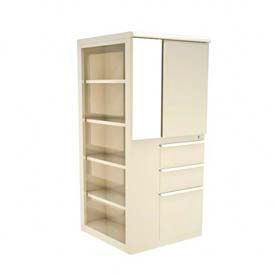 Marvel® Ensemble Personal Storage Shelf Tower with Left Bookcase, Pumice