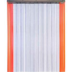 "TMI Armor-Bond Premium Strip Door SD10-8A-4X8-SL - 4'W x 8'H - 8"" Ribbed Clear PVC"