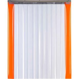 "TMI Armor-Bond Premium Strip Door SD10-8A-6X8-SL - 6'W x 8'H - 8"" Smooth Clear PVC"
