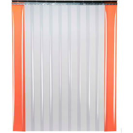 "TMI Low Temperature Strip Door SD11-12-12X12 - 12'W x 12'H - 12"" Smooth Clear PVC"
