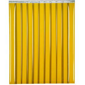 "TMI Welding Strip Door SD14-8-6X6 - 6'W x 6'H - 8"" Amber Tint PVC"