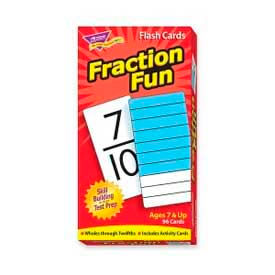 Trend® Fraction Fun Flash Cards, 96 Cards/Box
