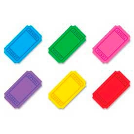 """Trend® Winning Tickets Classic Accents Variety Pack, 5-1/2"""" High, 6 Colors, 72 Pcs/Pack"""