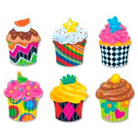 """Trend® Cupcakes Classic Accents Variety Pack, 5-1/2"""" High, 36 Pcs/Pack"""