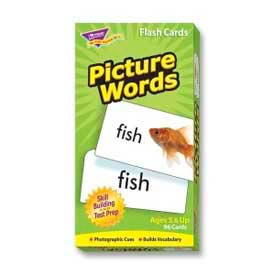 """Trend® Picture Words Flash Cards, 3"""" x 6"""", 96 Cards/Box"""