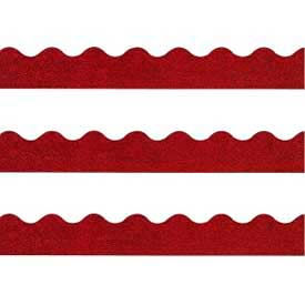 "Trend® Sparkle Terrific Trimmers, 2-1/4"" x 32-1/2', Red, 1 Pack"
