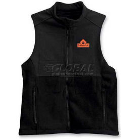 Techniche 5529S Thermafur™ Air Activated Heating Ultra Vest Softshell With Warmers, 3XL, Black