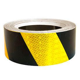 "Super Brite Reflective Tape, Yellow/Black, 2""W x 30'L Roll, HRT230YB"