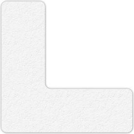 Floor Marking Tape, White, L Shape, 25/Pkg., LM110W
