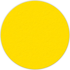 "Floor Marking Tape, Yellow, 6"" Circle, 25/Pkg., LM190Y"