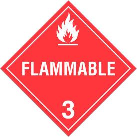 INCOM® TA300TB Class 3 Flammable Liquids Tagboard Placard