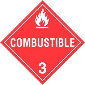 INCOM® TA310TB Class 3 Combustible Liquids Tagboard Placard