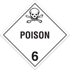 INCOM® TA600TB Class 6.1 Toxic Substances Tagboard Placard
