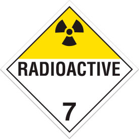 INCOM® TA700PS Class 7 Radioactive Adhesive Vinyl Placard